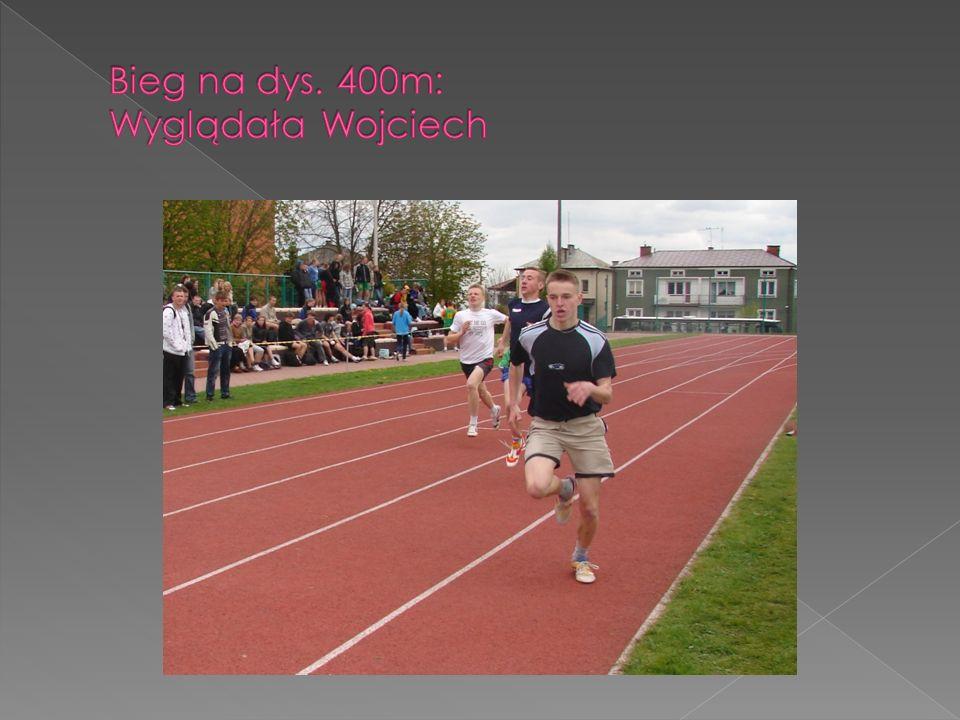 Bieg na dys. 400m: Wyglądała Wojciech