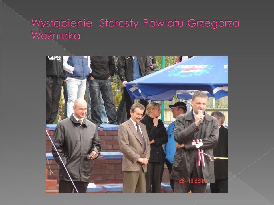 Wystąpienie Starosty Powiatu Grzegorza Woźniaka