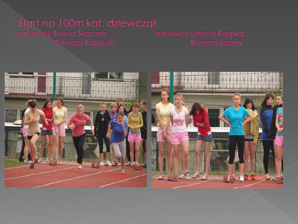 Start na 100m kat. dziewcząt