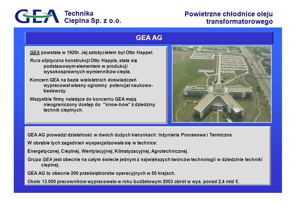 GEA AG GEA powstała w 1920r. Jej założycielem był Otto Happel.