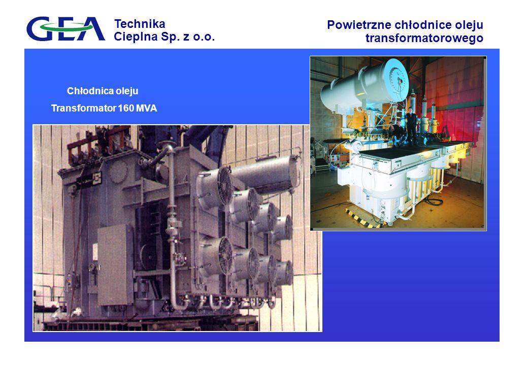 Chłodnica oleju Transformator 160 MVA