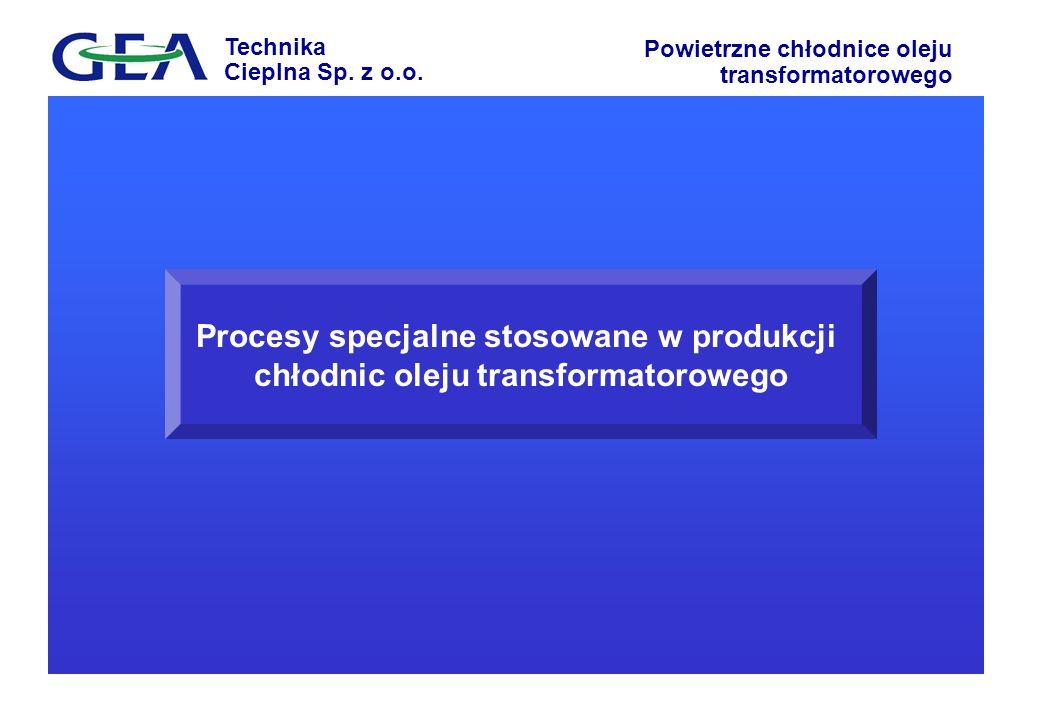 Procesy specjalne stosowane w produkcji