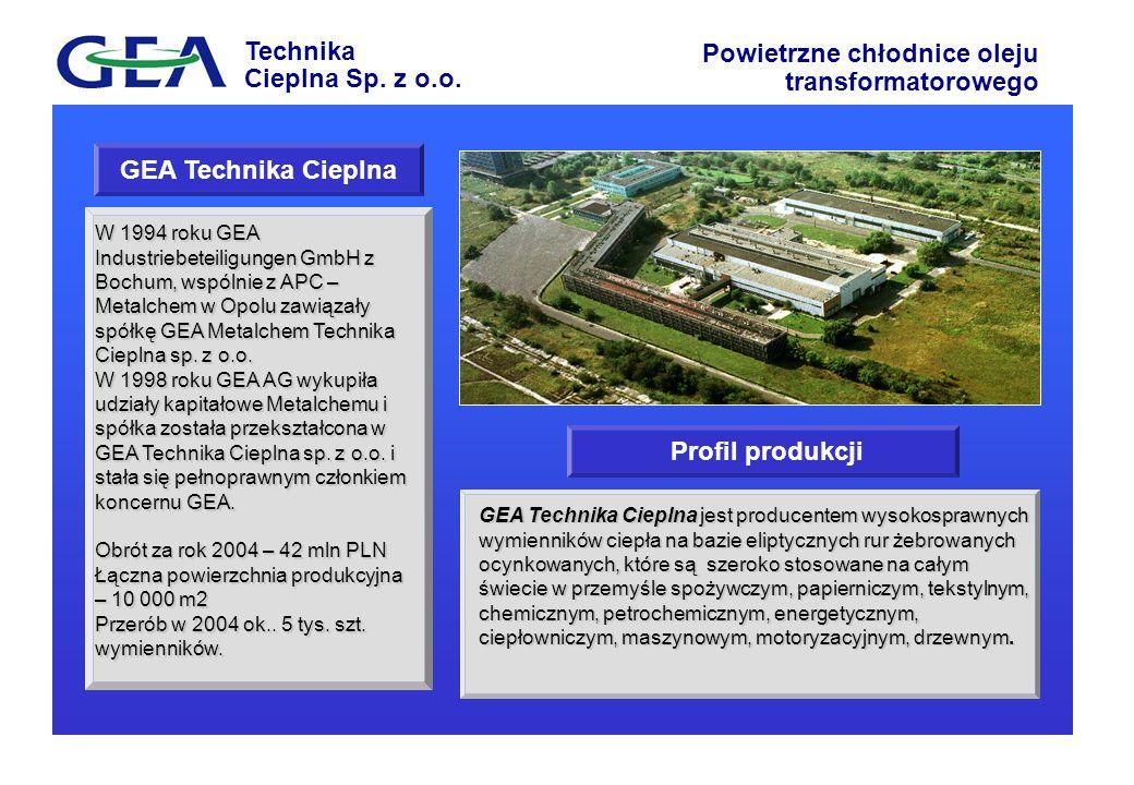 GEA Technika Cieplna Profil produkcji