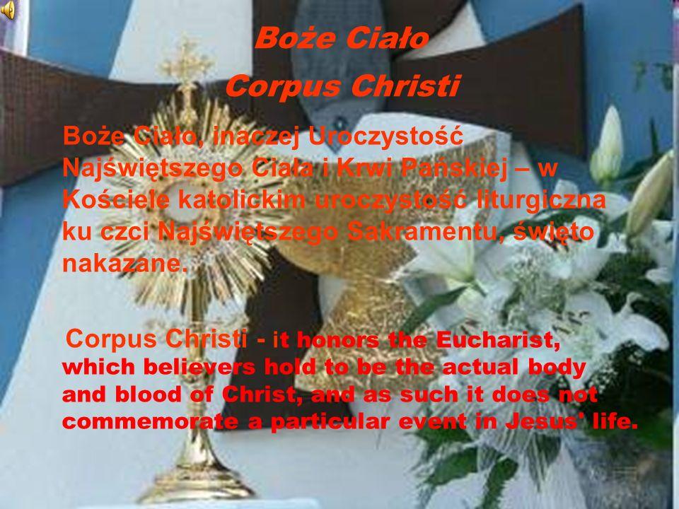 Boże Ciało Corpus Christi
