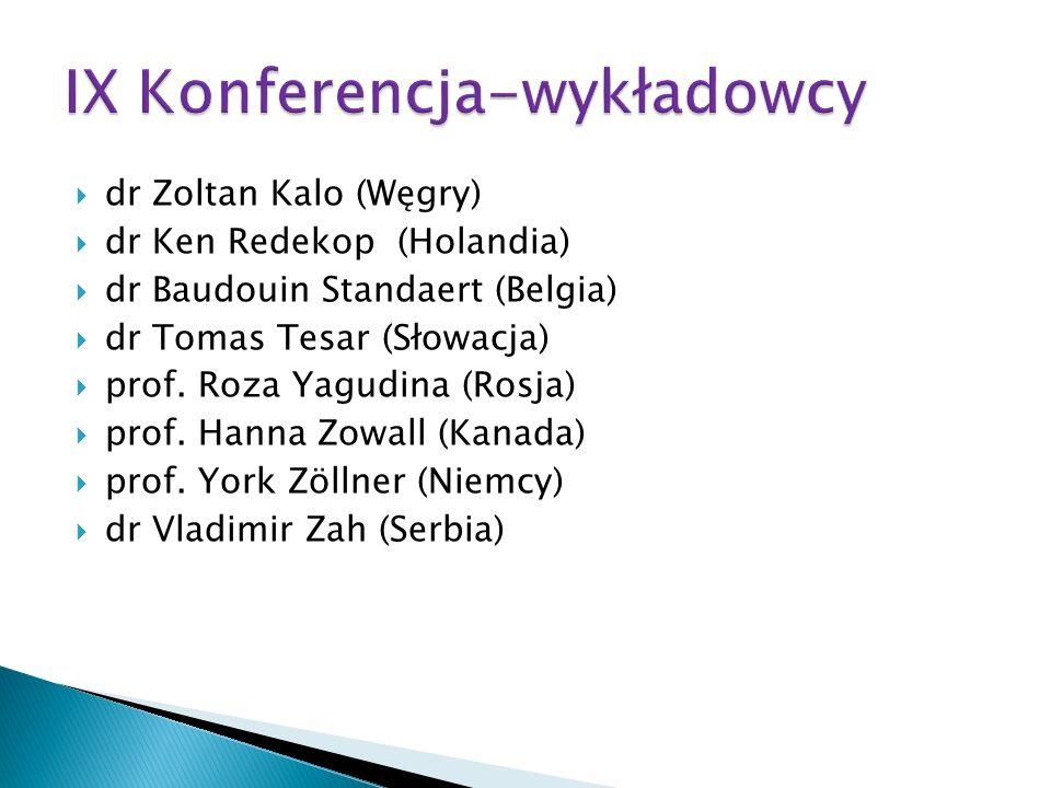 IX Konferencja-wykładowcy