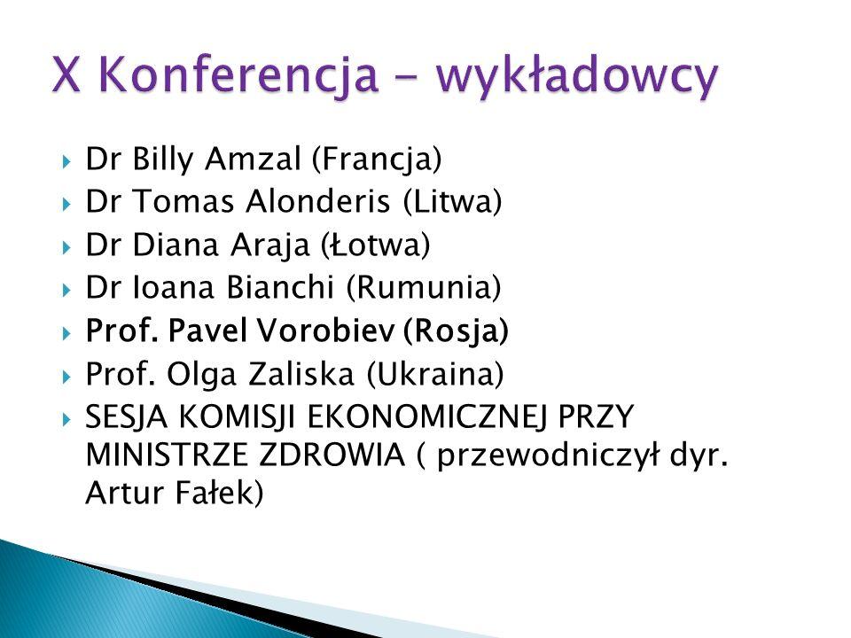 X Konferencja - wykładowcy