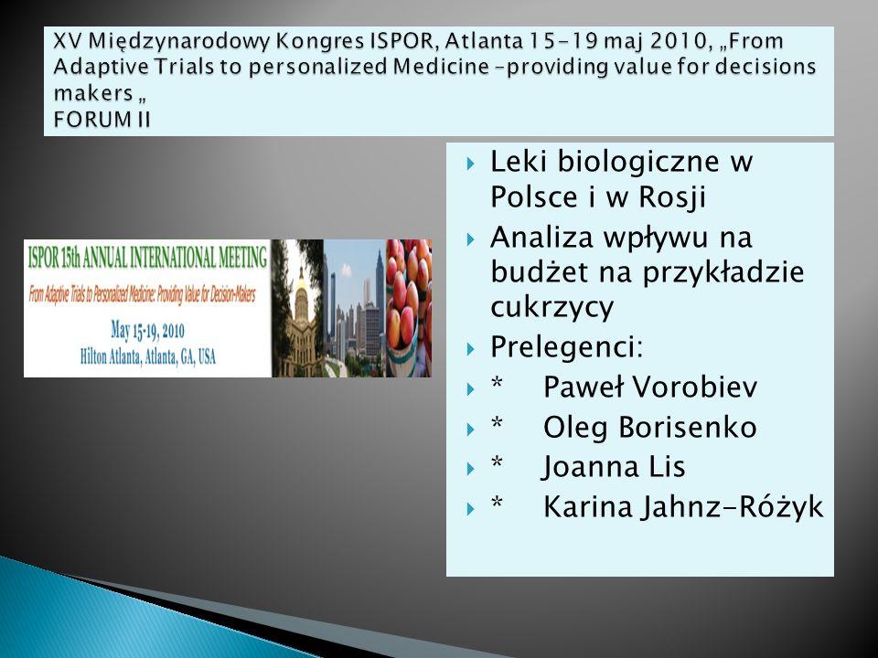 Leki biologiczne w Polsce i w Rosji