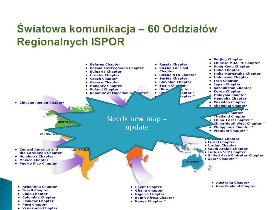 Światowa komunikacja – 60 Oddziałów Regionalnych ISPOR