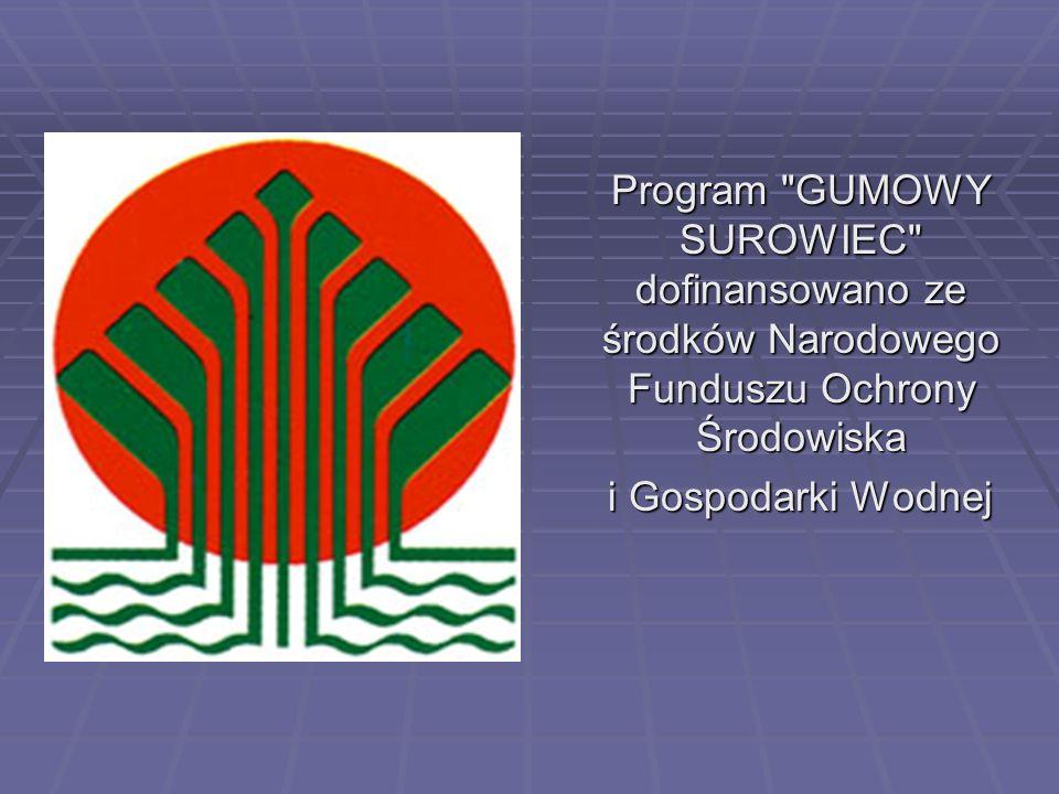 Program GUMOWY SUROWIEC dofinansowano ze środków Narodowego Funduszu Ochrony Środowiska