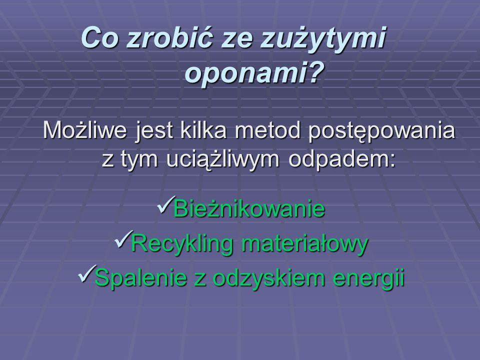 Co zrobić ze zużytymi oponami