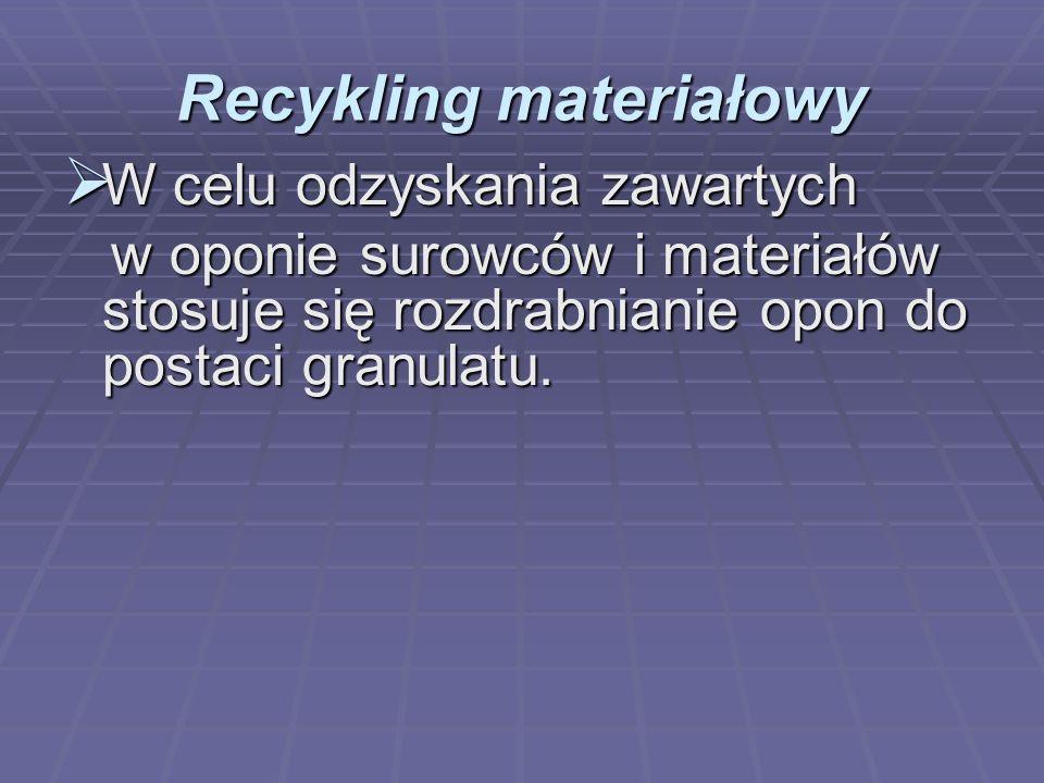 Recykling materiałowy