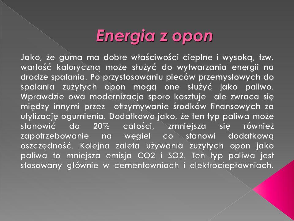 Energia z opon