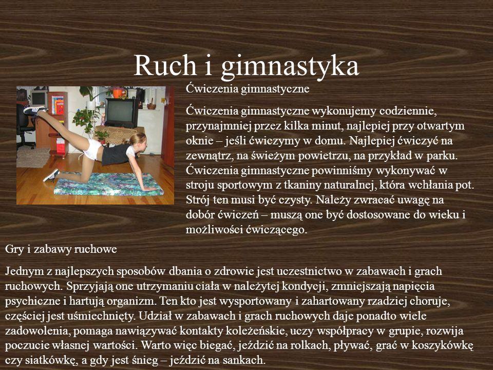 Ruch i gimnastyka Ćwiczenia gimnastyczne