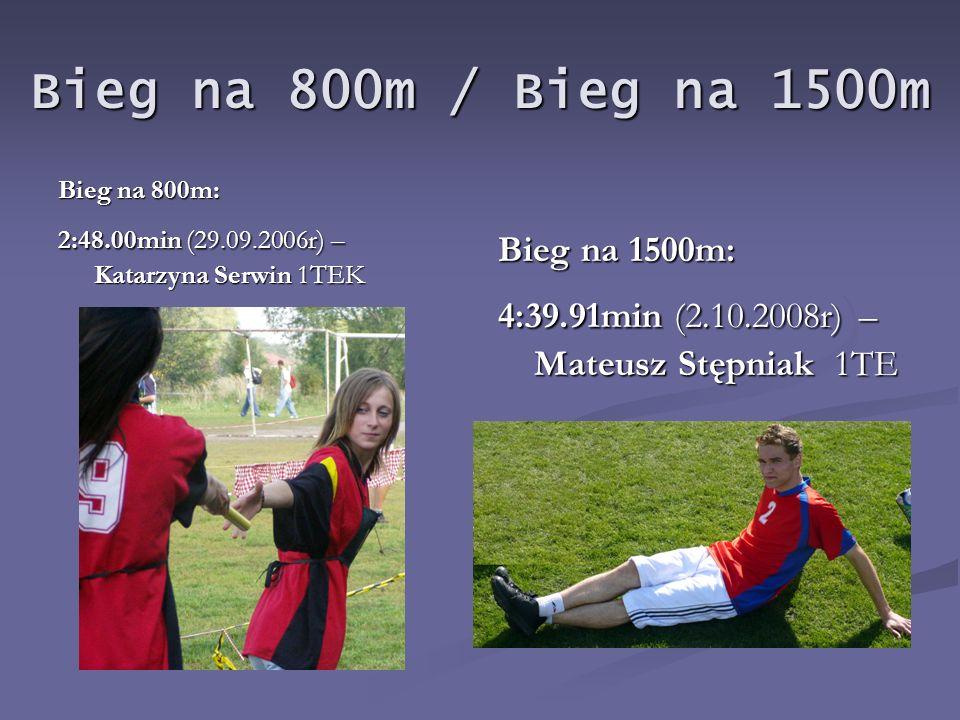 Bieg na 800m / Bieg na 1500m Bieg na 1500m: