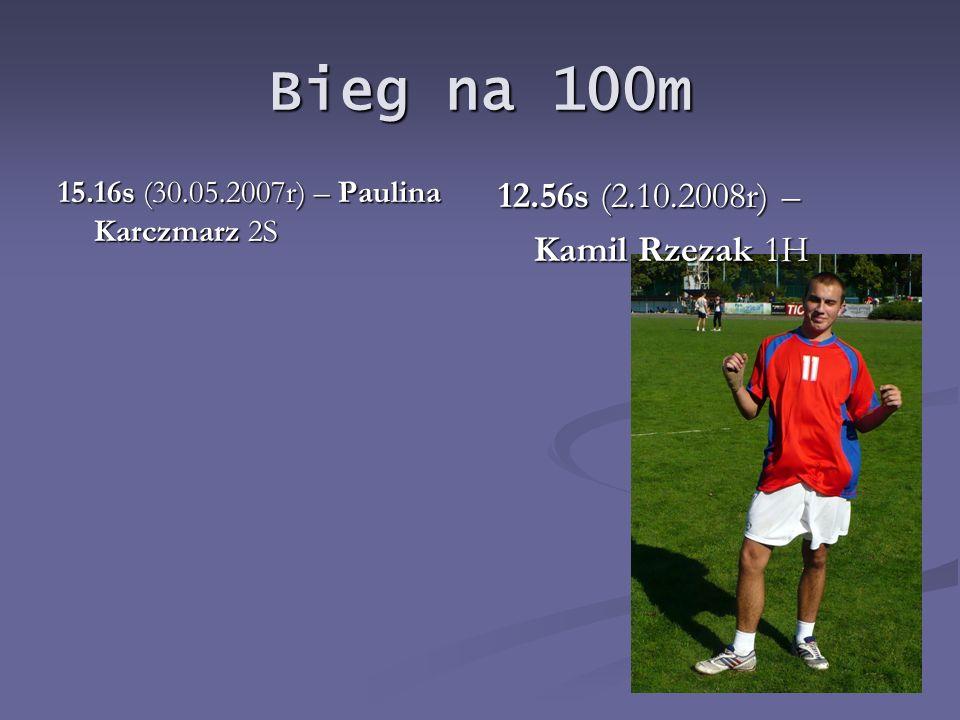 Bieg na 100m 12.56s (2.10.2008r) – Kamil Rzezak 1H