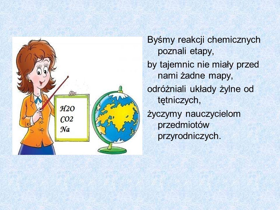 Byśmy reakcji chemicznych poznali etapy,
