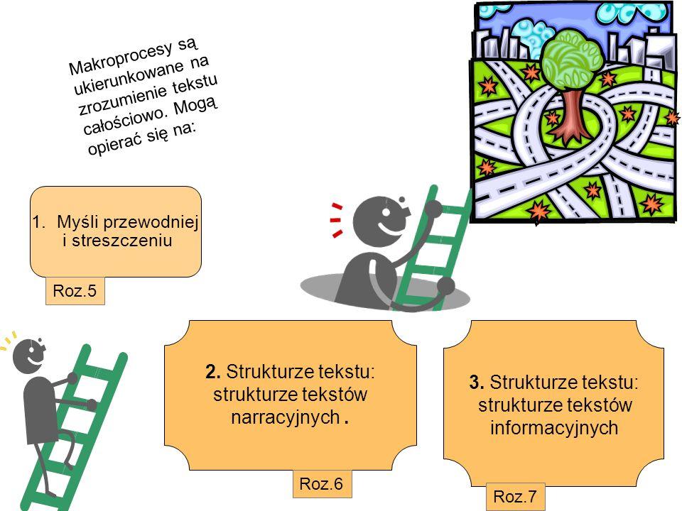 2. Strukturze tekstu: 3. Strukturze tekstu: strukturze tekstów