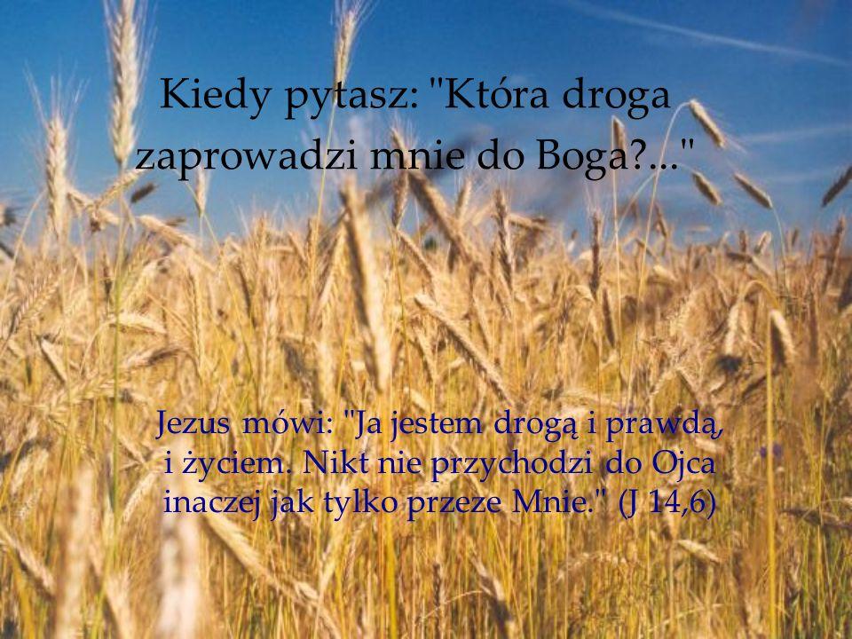 Kiedy pytasz: Która droga zaprowadzi mnie do Boga ...