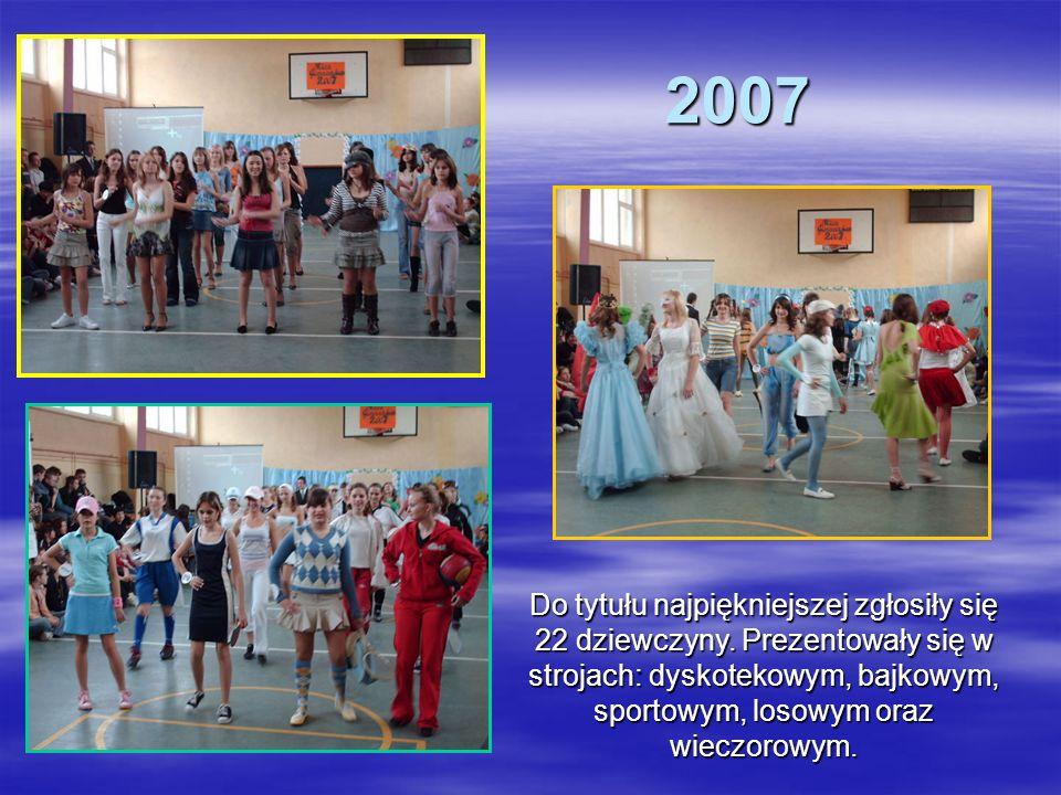 2007 Do tytułu najpiękniejszej zgłosiły się 22 dziewczyny.