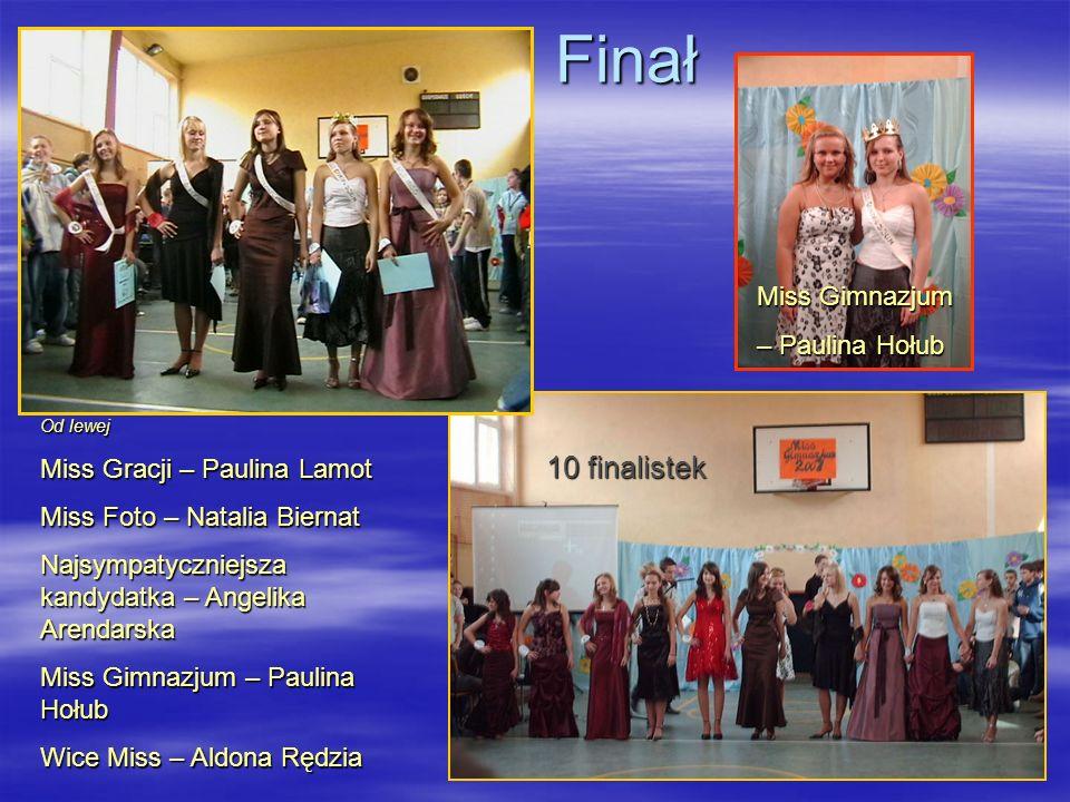 Finał 10 finalistek Miss Gimnazjum – Paulina Hołub