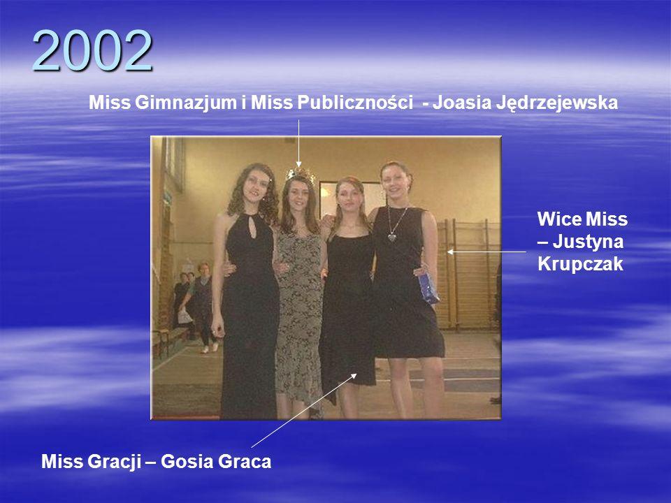 2002 Miss Gimnazjum i Miss Publiczności - Joasia Jędrzejewska