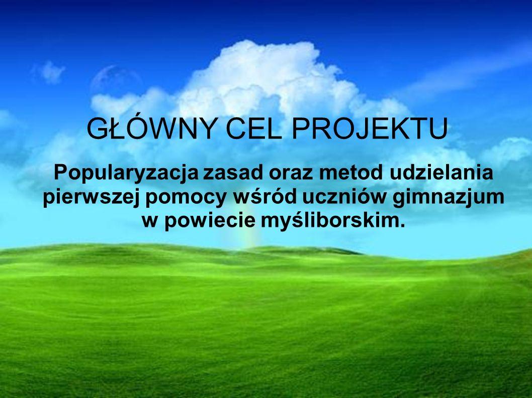 Popularyzacja zasad oraz metod udzielania pierwszej pomocy wśród uczniów gimnazjum w powiecie myśliborskim.