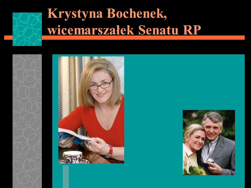 Krystyna Bochenek, wicemarszałek Senatu RP