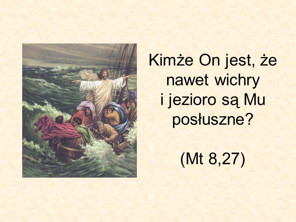 Kimże On jest, że nawet wichry i jezioro są Mu posłuszne (Mt 8,27)