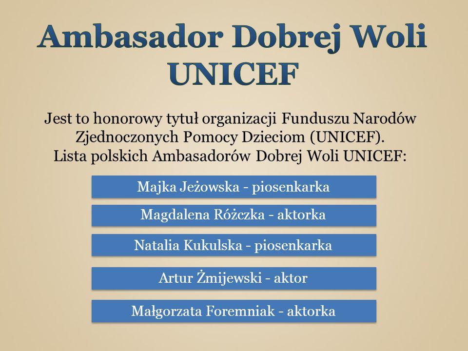 Ambasador Dobrej Woli UNICEF