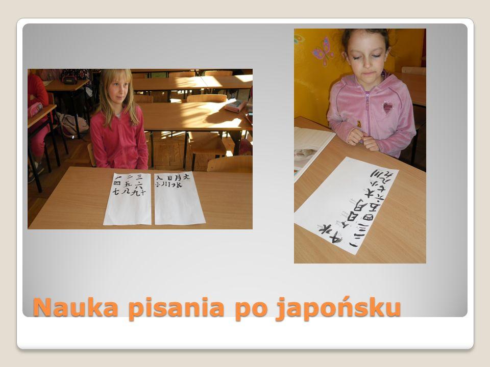 Nauka pisania po japońsku