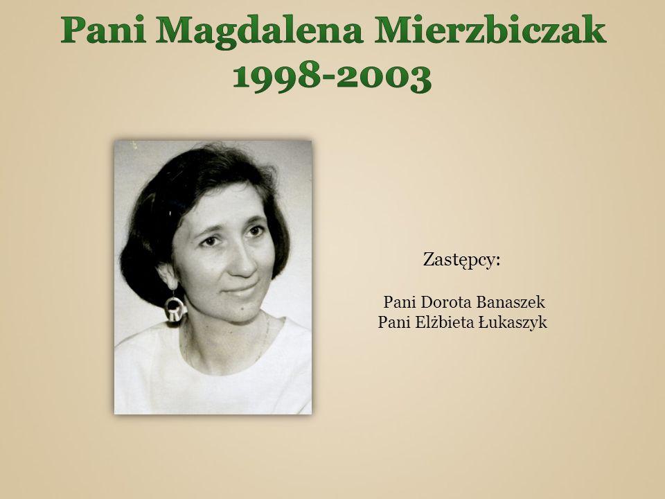 Pani Magdalena Mierzbiczak 1998-2003