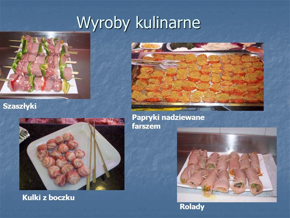 Wyroby kulinarne Szaszłyki Papryki nadziewane farszem Kulki z boczku