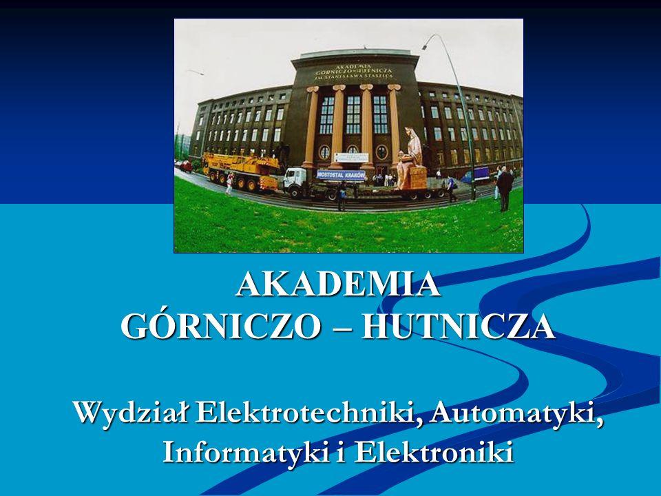 AKADEMIA GÓRNICZO – HUTNICZA Wydział Elektrotechniki, Automatyki, Informatyki i Elektroniki