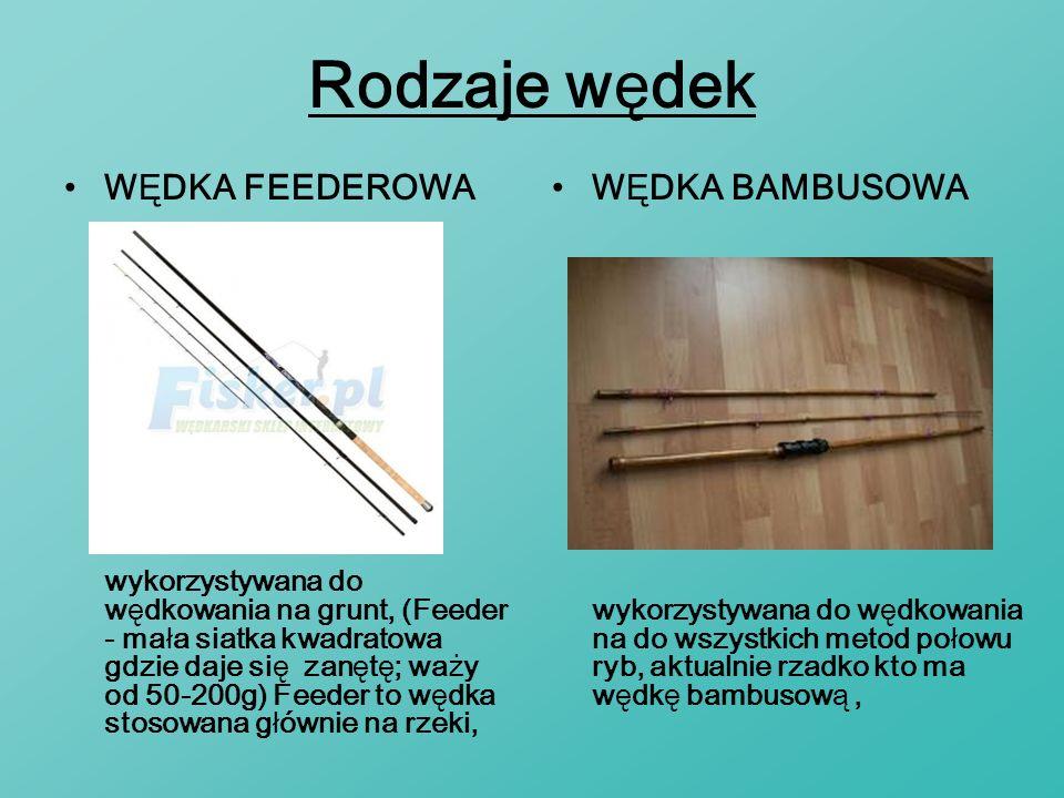 Rodzaje wędek WĘDKA FEEDEROWA WĘDKA BAMBUSOWA