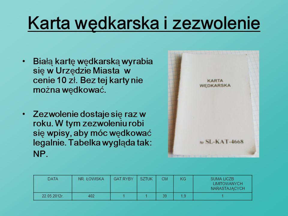 Karta wędkarska i zezwolenie