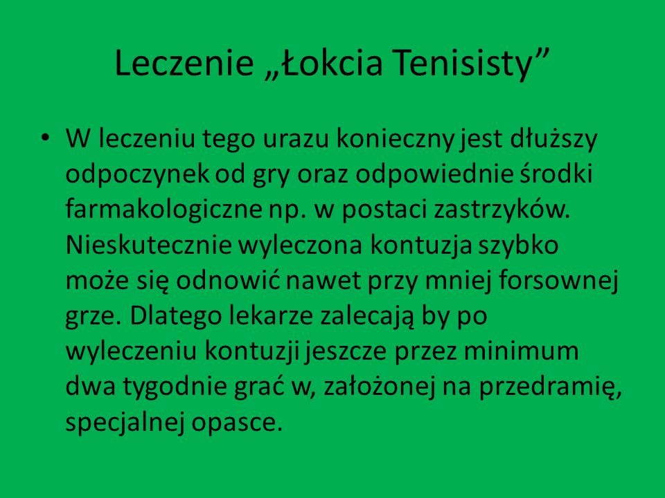 """Leczenie """"Łokcia Tenisisty"""