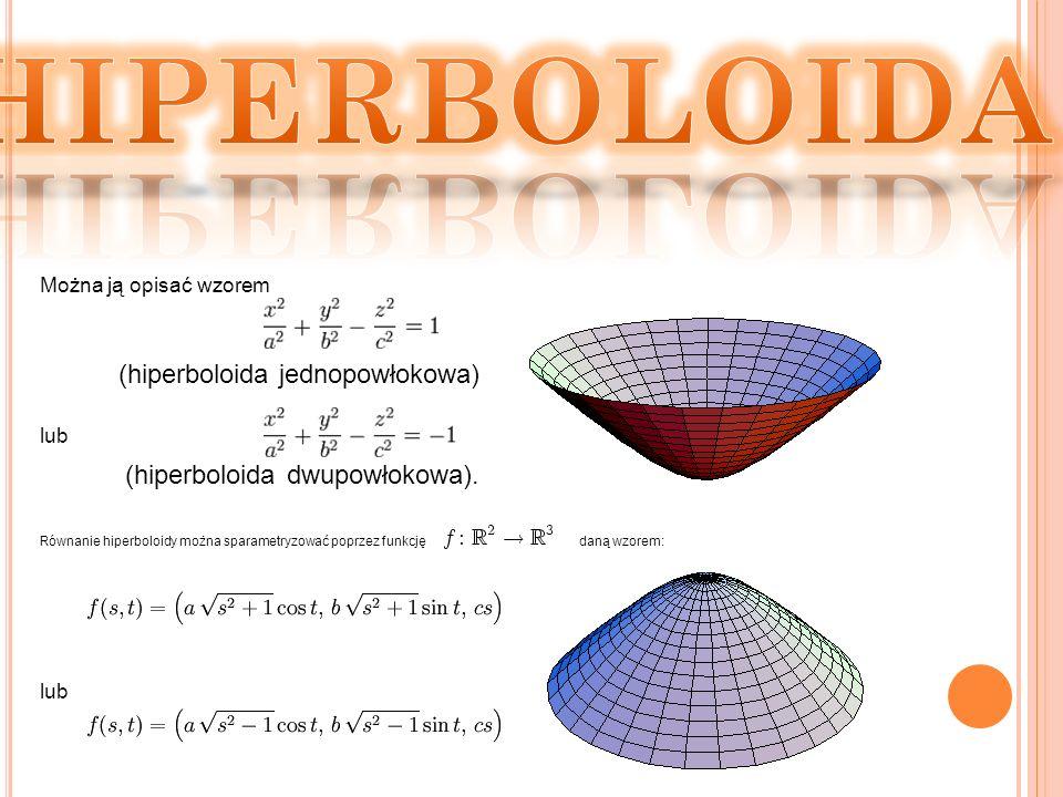 HIPERBOLOIDA (hiperboloida jednopowłokowa)
