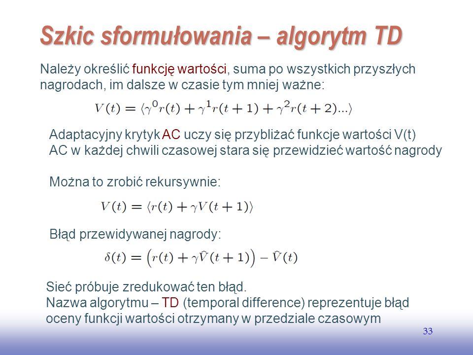 Szkic sformułowania – algorytm TD
