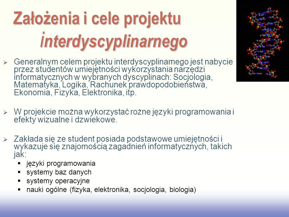Założenia i cele projektu interdyscyplinarnego