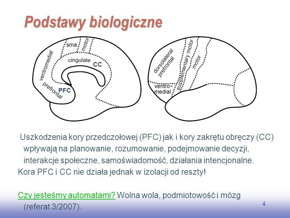 Podstawy biologiczne PFC. CC.