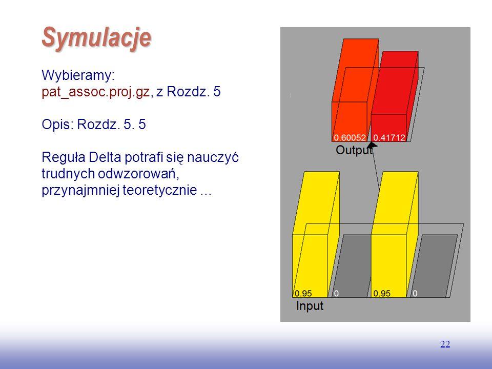 Symulacje Wybieramy: pat_assoc.proj.gz, z Rozdz. 5 Opis: Rozdz. 5. 5