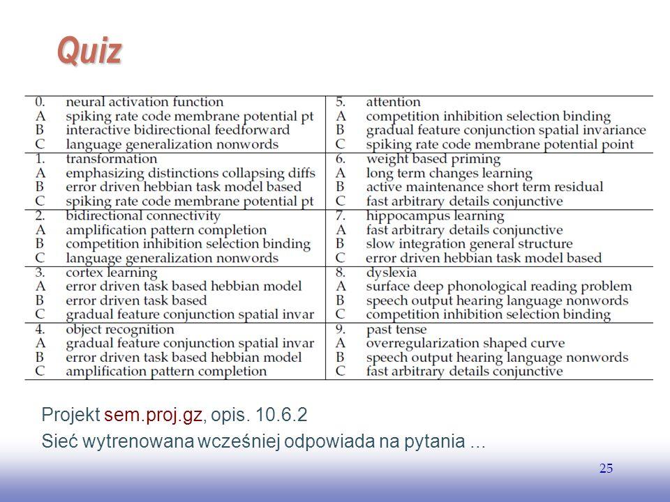 Quiz Projekt sem.proj.gz, opis. 10.6.2