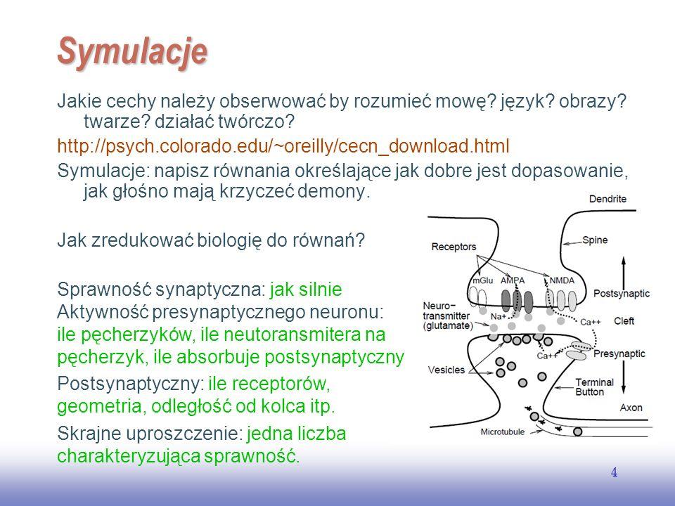 EE141 Symulacje. Jakie cechy należy obserwować by rozumieć mowę język obrazy twarze działać twórczo