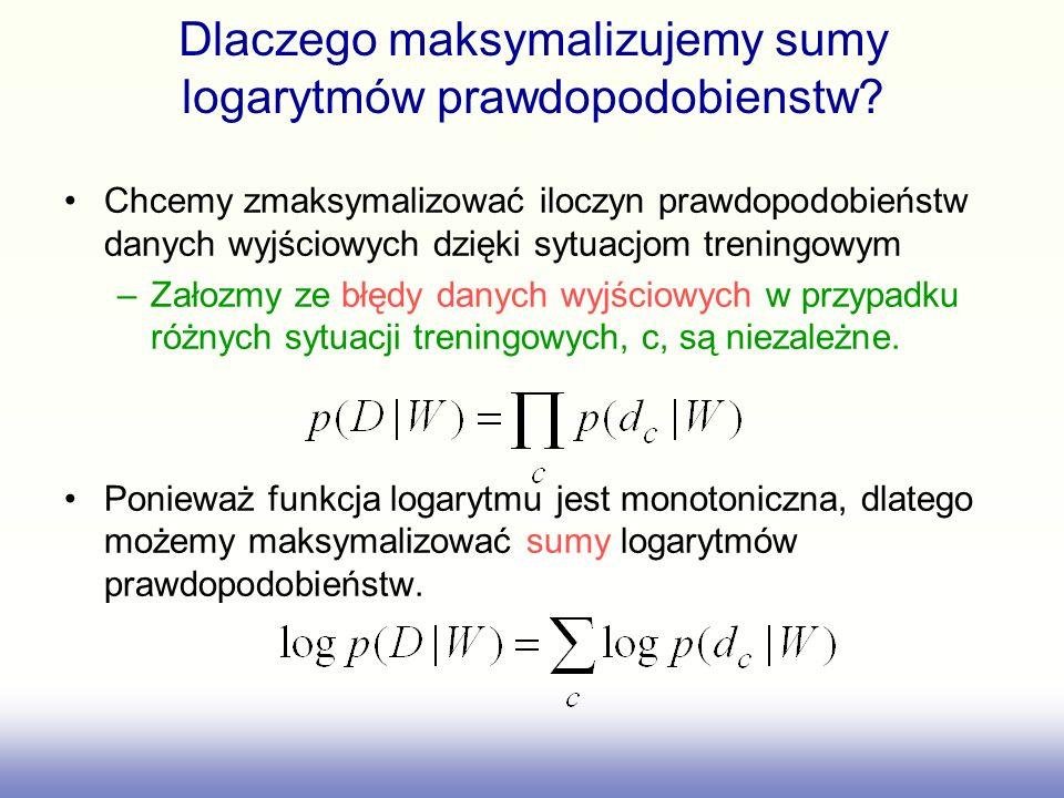 Dlaczego maksymalizujemy sumy logarytmów prawdopodobienstw