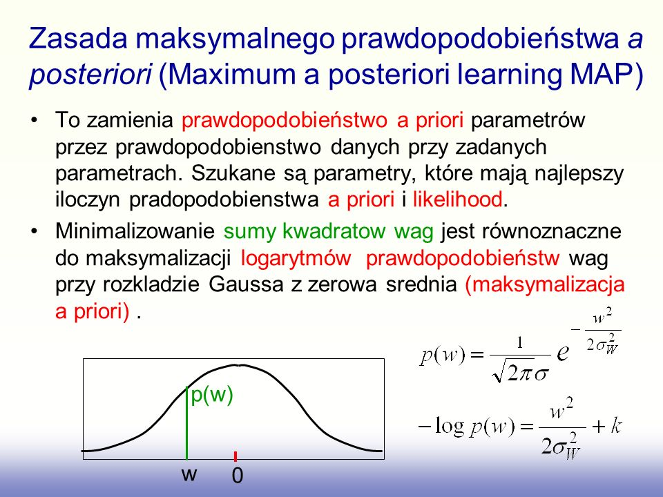 Zasada maksymalnego prawdopodobieństwa a posteriori (Maximum a posteriori learning MAP)