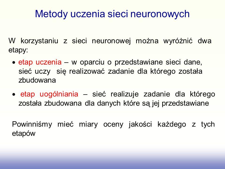 Metody uczenia sieci neuronowych