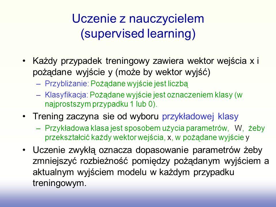 Uczenie z nauczycielem (supervised learning)