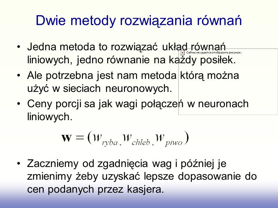 Dwie metody rozwiązania równań