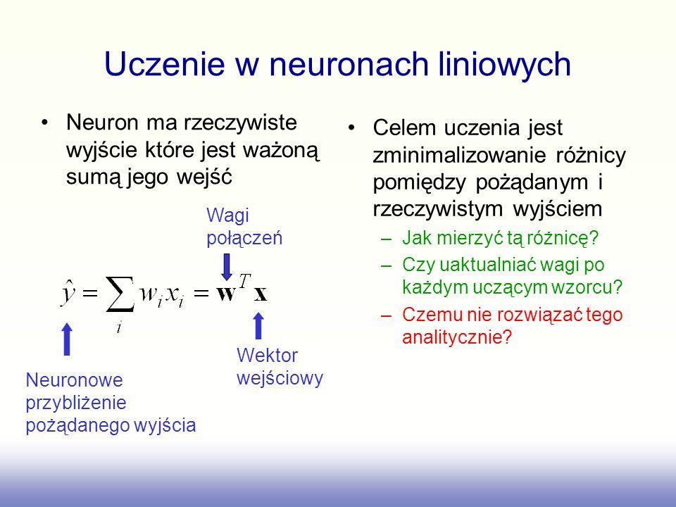Uczenie w neuronach liniowych