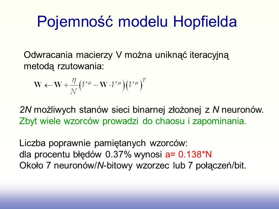 Pojemność modelu Hopfielda